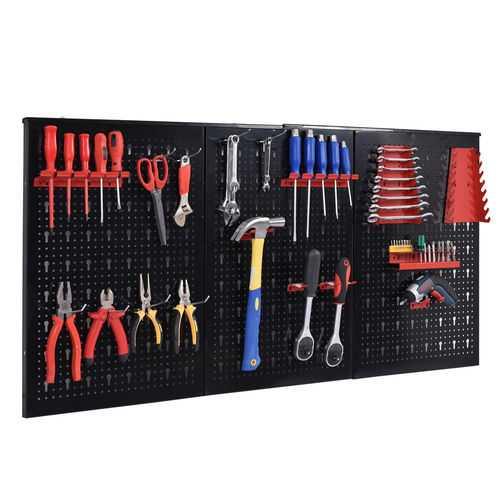 metal pegboard tool storage organizer offers maximum tool board storage versatility and strength