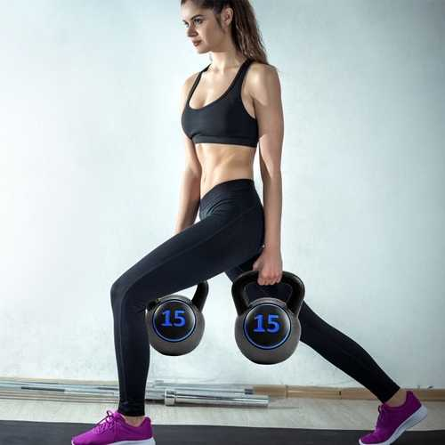 This 3 pcs kettle bells set is perfect for strength training and fitness. For various strength degree levels you could choose the appropriate weight for your exercising.